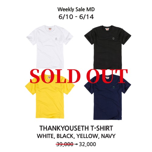 THANKYOUSETH T-SHIRT (WHITE,BLACK,YELLOW,NAVY)