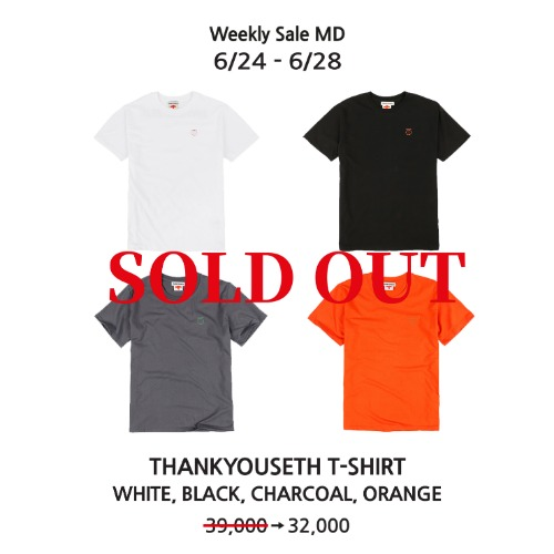 THANKYOUSETH T-SHIRT (WHITE,BLACK,CHARCOAL,ORANGE)
